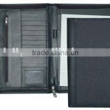 China Black/Tan Portfolio, Polyester Conference Folder with A4 Writing Pad; X8004A110002