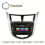 Ownice C300 Quad core android 4.4 car GPS video RADIO for Hyundai Verna Accent Solaris built in RDS multimedia WIFI GPS navi