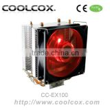 COOLCOX CPU COOLER CC-EX100 for Intel LGA 1156/1155/1151/1150/775 & AMD FM2/FM1/AM3+,aluminium+copper Heatpipe