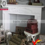 handmade classic wooden antique white fireplace price