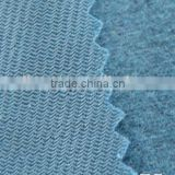 polyester tricot warp knitted fleece fabric polyester tricot fabric/oneside brush fabric shinny fabric