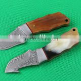 OEM traditional Damascus blade material small fixed knives