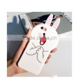 Fashion Korea 3D Cute Lovely Cartoon Lover Bear Rabbit Chicken Soft Silicone Shockproof Phone Protector Case for iPhone6 6s Plus