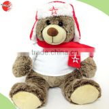 red christmas gift teddy bear, soft red christmas gift teddy bears, christmas plush toys