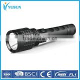 New aluminium alloy strong light flashlight cycling flashlight charging light focusing flashlight wholesale lithium-ion batterie