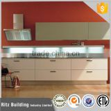 high quality customized kitchen cabinets with uv decorative board MDF kitchen cabinet factory