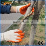 BSSAFETY Hand Safety Protective Latex Coated Glove , Cotton String Knit Glove Liner with Firm Grip Palm Construction Gloves