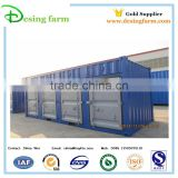 Prefabricated storage container house with door