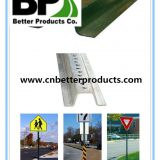 perforated steel u channel sign post for traffic safety sign