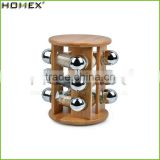 Multi-Purpose 12 Bottles Bamboo Wooden Spice Rack/Homex_Factory