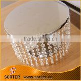 cake stand for wedding decoration/hanging crystal cake stand for wedding cake