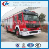 high performance 4x2 266hp 8cbm howo fire truck for sale