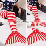 Christmas Sweaters Adult Stylish Knitting Sleeping Clothes Fish Mermaid Tail blanket