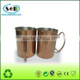 New promotion stainless steel copper mug, Russian Standard Copper cup, Copper plating stainless steel