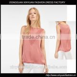 Top quality fasionable women blouse lady tops sleeveless satin design