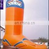 Inflatable cow boy shoe