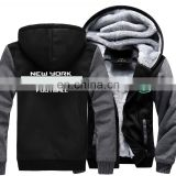 New Model National Team of American Super Bowl Soccer Jets Football Jacket Jersey with Zip Thicken Hoodies Sweatshirt