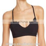 manufacture womens sexy yoga gym built-in bra criss-cross back bra