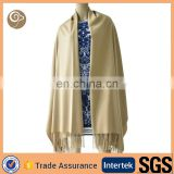 Woven with fringe shawl cashmere scarf