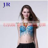 Flower beautiful beaded tassel belly dance sexy bra top YD-037#