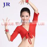Wholesale soft crop sleeve adult women sport belly dance costume top S-3020#