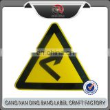 Customized Road Sign Yellow Color Zinc Coated Warning Traffic Signs