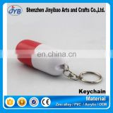 Black and white color custom design capsule medicine key chain