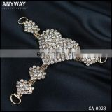 Ab crystal shoe upper heel accessories chain