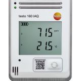 Testo 160 IAQ - WiFi data logger with display and integrated sensors for temperature, humidity, CO2 and atmospheric pressure