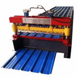 Steel PPGI trapezoidal metal roofing sheet roll forming machine new design