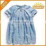 Factory Directly Wholesale Denim Jean Baby Dress