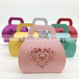 2016 Hot Sale Weddding Favor Laser Cut Hollow Love Heart Sweet Boxes                                                                         Quality Choice