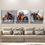 Free Shipping Superb Skills Artist Hand-painted Modern Bike Oil Painting On Canvas Handmade Heavy Motorbike Oil Painting