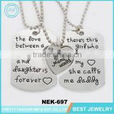 Yiwu Fashion Jewelry Father Mother Day Girls Necklace Sets For Gifts
