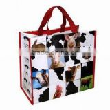 2015 cheap fashion eco-friendly recycled laminated polypropylene plastic tote shoppng pp woven bag
