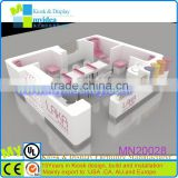 OEM/ODM modern model mall beauty salon wooden nail kiosk