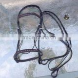 Black leather English horse bridle w/ laced leather brow and nose/ veterinary instruments and equipment