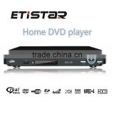 225mm DVD Player Home Black 2.0ch, with USB, AV OUT, display; compatible with DVD/VCD/CD/MP4/MP3/CD-RW/JPEG DVD Case