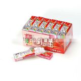 5 sticks chewing gum fruit chews candy