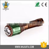 JF LED Flashlight Rotating Focusing Lifehammer Attack Head Police Flashlight Factory