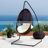 Outdoor Furniture PE Rattan Hanging Swing Egg Shaped Chair(DH-004)
