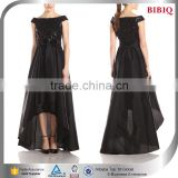 french fine china en.alibaba big size women dress high front low back sequins black high fashion bow evening dresses