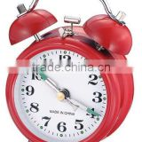 3 inch metal case mechanical bell alarm clock movement, desktop clock mechanism