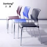 factory sale stackable plastic school adult classroom training chair with 4 metal legs 1221