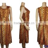 C1018 Good quality African dresses fashion design leopard pattern cotton fabric women dress 2016