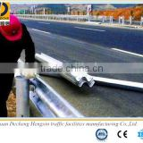 China hot rolled high intensity plastic spraying guard rail with various color