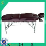 3 Sections Folding Thai Oil Aluminium Vibrating Massager Table for medical and beauty salon