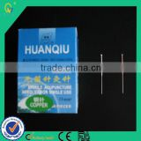 Low-weight Sterile Disposable Acupuncture Needles Of Copper Handle