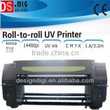 HOT!!BEST quality! 3.2m roll to roll UV printer,fast leather printing machine with uv ink,wallpaper printing machine