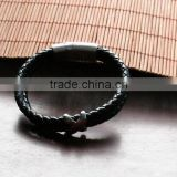 Excellent quality new coming cord end leather bracelet